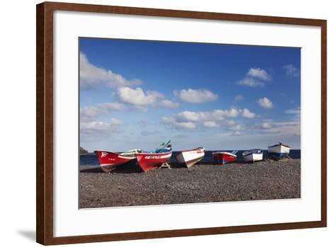Fishing Boats, Pozo Negro, Fuerteventura, Canary Islands, Spain, Atlantic, Europe-Markus Lange-Framed Art Print