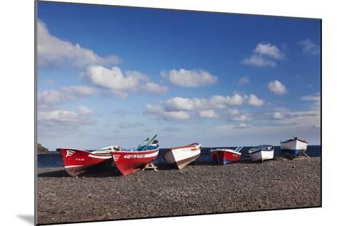 Fishing Boats, Pozo Negro, Fuerteventura, Canary Islands, Spain, Atlantic, Europe-Markus Lange-Mounted Photographic Print