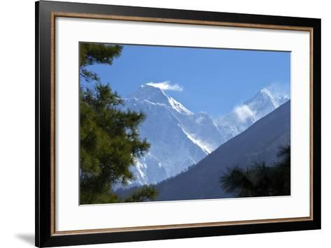 View to Mount Everest and Lhotse from the Trail Near Namche Bazaar, Nepal, Himalayas, Asia-Peter Barritt-Framed Art Print