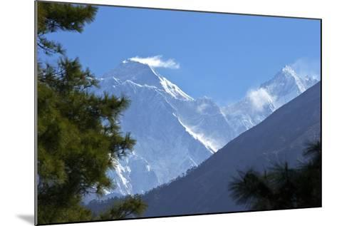 View to Mount Everest and Lhotse from the Trail Near Namche Bazaar, Nepal, Himalayas, Asia-Peter Barritt-Mounted Photographic Print