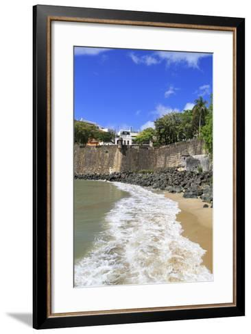 City Walls in Old San Juan, Puerto Rico, West Indies, Caribbean, Central America-Richard Cummins-Framed Art Print