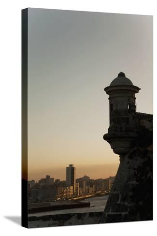 El Morro Fortress at Sunset, Havana, Cuba, West Indies, Central America-Angelo Cavalli-Stretched Canvas Print