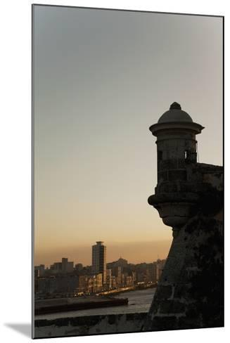 El Morro Fortress at Sunset, Havana, Cuba, West Indies, Central America-Angelo Cavalli-Mounted Photographic Print