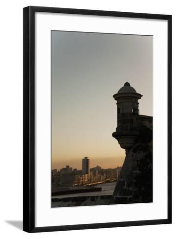 El Morro Fortress at Sunset, Havana, Cuba, West Indies, Central America-Angelo Cavalli-Framed Art Print