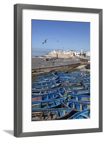 View over the Fishing Harbour to the Ramparts and Medina-Stuart Black-Framed Art Print