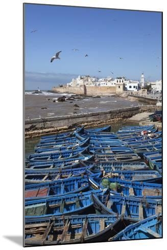 View over the Fishing Harbour to the Ramparts and Medina-Stuart Black-Mounted Photographic Print