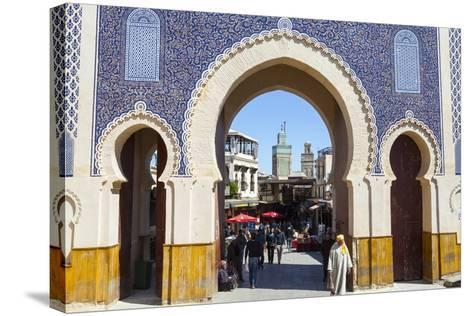 Bab Boujeloud Gate (The Blue Gate)-Doug Pearson-Stretched Canvas Print