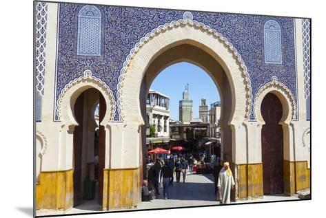 Bab Boujeloud Gate (The Blue Gate)-Doug Pearson-Mounted Photographic Print