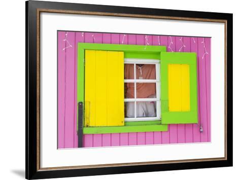 Beach Store in Cruz Bay-Richard Cummins-Framed Art Print