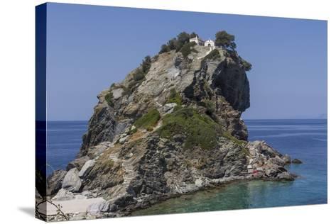 Agios Ioannis Chapel, Used in the Film Mama Mia, Skopelos, Sporades, Greek Islands, Greece, Europe-Rolf Richardson-Stretched Canvas Print