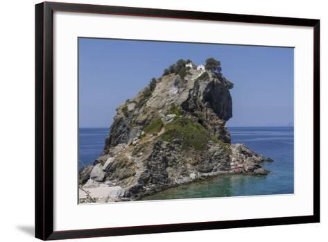 Agios Ioannis Chapel, Used in the Film Mama Mia, Skopelos, Sporades, Greek Islands, Greece, Europe-Rolf Richardson-Framed Art Print