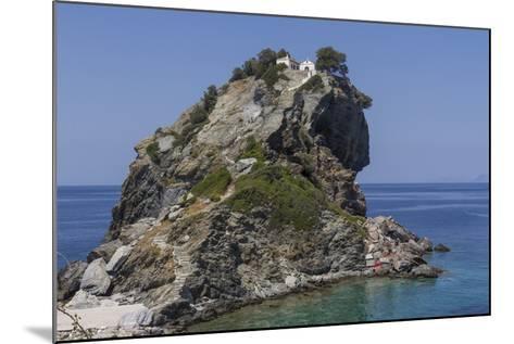 Agios Ioannis Chapel, Used in the Film Mama Mia, Skopelos, Sporades, Greek Islands, Greece, Europe-Rolf Richardson-Mounted Photographic Print