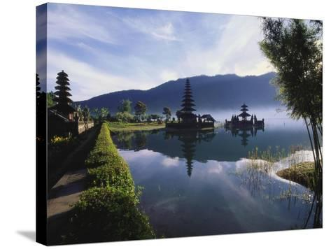 Hindu Temples at Lake Bratan, Pura Ulu Danau, Bali-Alain Evrard-Stretched Canvas Print