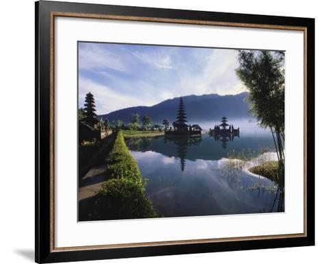 Hindu Temples at Lake Bratan, Pura Ulu Danau, Bali-Alain Evrard-Framed Art Print