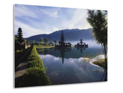 Hindu Temples at Lake Bratan, Pura Ulu Danau, Bali-Alain Evrard-Metal Print
