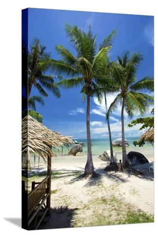 Palm Trees and Lamai Beach, Koh Samui, Thailand, Southeast Asia, Asia-Lee Frost-Stretched Canvas Print