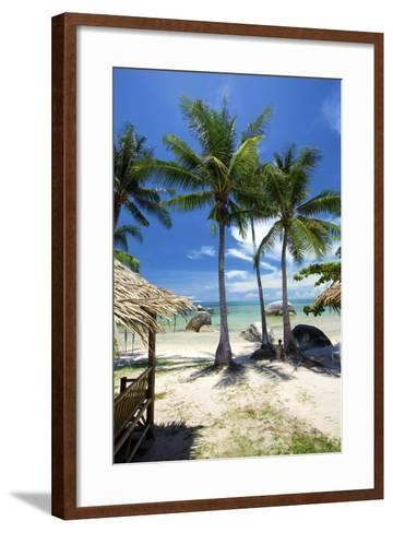 Palm Trees and Lamai Beach, Koh Samui, Thailand, Southeast Asia, Asia-Lee Frost-Framed Art Print
