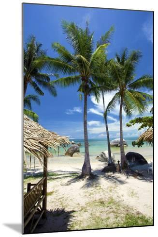 Palm Trees and Lamai Beach, Koh Samui, Thailand, Southeast Asia, Asia-Lee Frost-Mounted Photographic Print