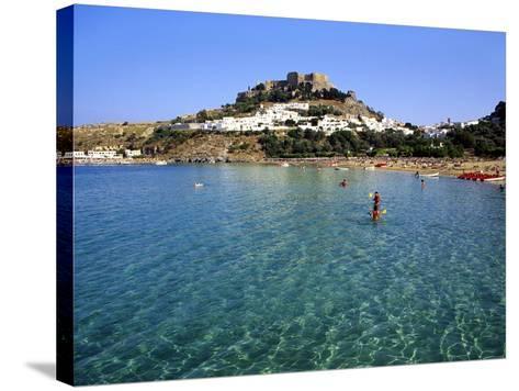 Lindos, Rhodes, Greece, Europe-Fraser Hall-Stretched Canvas Print