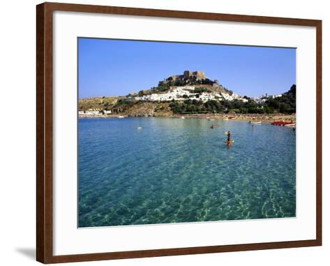 Lindos, Rhodes, Greece, Europe-Fraser Hall-Framed Art Print