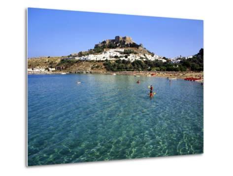 Lindos, Rhodes, Greece, Europe-Fraser Hall-Metal Print