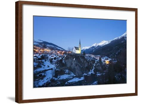 Scuol, Graubunden, Swiss Alps, Switzerland, Europe-Christian Kober-Framed Art Print