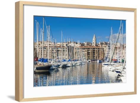 View across the Vieux Port-Nico Tondini-Framed Art Print