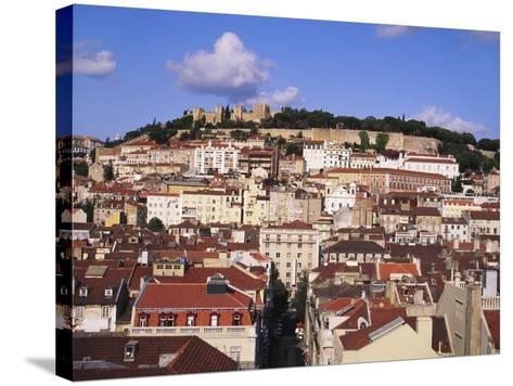 Cityscape of Lisbon and Castelo De Sao Jorge, Portugal-Jeremy Lightfoot-Stretched Canvas Print