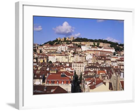 Cityscape of Lisbon and Castelo De Sao Jorge, Portugal-Jeremy Lightfoot-Framed Art Print
