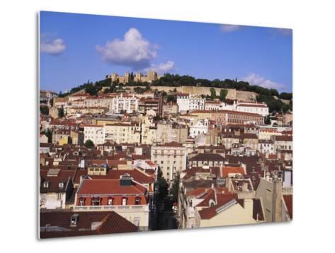 Cityscape of Lisbon and Castelo De Sao Jorge, Portugal-Jeremy Lightfoot-Metal Print