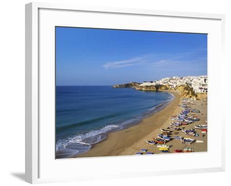 Sailboats on the Coast of Albufera, Algarve, Portugal-Jeremy Lightfoot-Framed Art Print