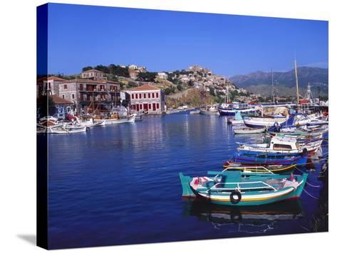 Sailboats Moored at Molyvos Harbour, Lesvos, Greece-Jeremy Lightfoot-Stretched Canvas Print