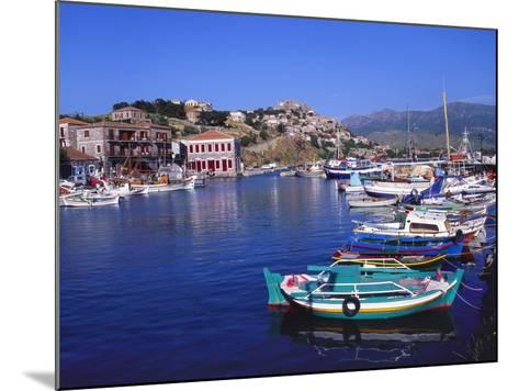 Sailboats Moored at Molyvos Harbour, Lesvos, Greece-Jeremy Lightfoot-Mounted Photographic Print