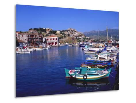 Sailboats Moored at Molyvos Harbour, Lesvos, Greece-Jeremy Lightfoot-Metal Print