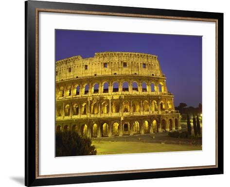 Colosseum at Night, Rome, Italy-Roy Rainford-Framed Art Print