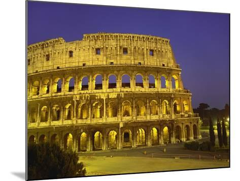 Colosseum at Night, Rome, Italy-Roy Rainford-Mounted Photographic Print