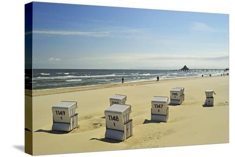 Beach Chairs, Usedom, Baltic Sea, Mecklenburg-Vorpommern, Germany, Europe-Jochen Schlenker-Stretched Canvas Print