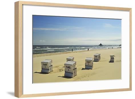 Beach Chairs, Usedom, Baltic Sea, Mecklenburg-Vorpommern, Germany, Europe-Jochen Schlenker-Framed Art Print