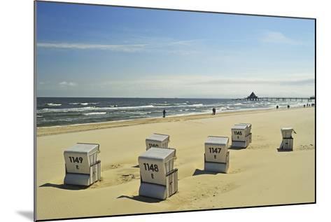 Beach Chairs, Usedom, Baltic Sea, Mecklenburg-Vorpommern, Germany, Europe-Jochen Schlenker-Mounted Photographic Print