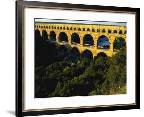 Pont Du Gard, Languedoc, France-Bruno Morandi-Framed Art Print