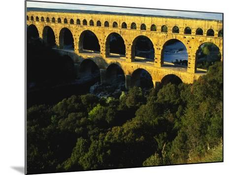 Pont Du Gard, Languedoc, France-Bruno Morandi-Mounted Photographic Print
