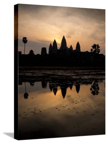 Sunrise over Angkor Wat-Ben Pipe-Stretched Canvas Print