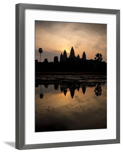 Sunrise over Angkor Wat-Ben Pipe-Framed Art Print