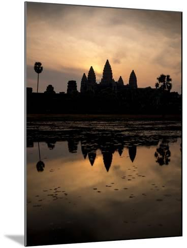 Sunrise over Angkor Wat-Ben Pipe-Mounted Photographic Print