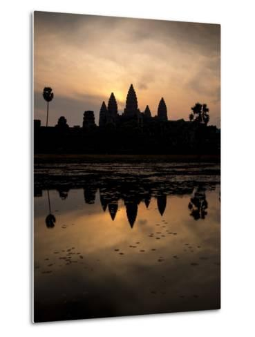 Sunrise over Angkor Wat-Ben Pipe-Metal Print