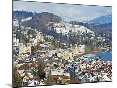 Lucerne on Lake Lucerne, Lucerne, Switzerland, Europe-Christian Kober-Mounted Photographic Print