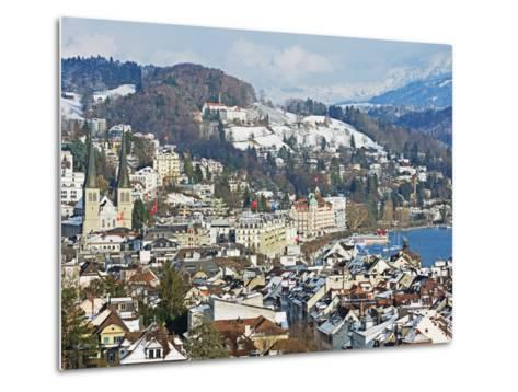 Lucerne on Lake Lucerne, Lucerne, Switzerland, Europe-Christian Kober-Metal Print