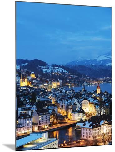 Lucerne on Lake Lucerne, Lucerne, Switzerland, Europe-Christian Kober-Mounted Photographic Print