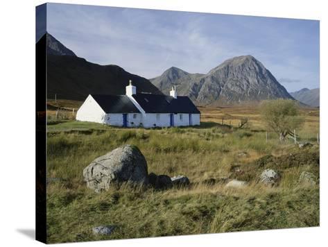 Scotland, Highlands, Glencoe, Croft by Mountains-Roy Rainford-Stretched Canvas Print