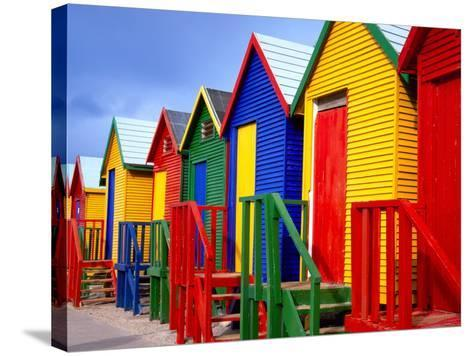 Beach Huts, Fish Hoek, Cape Peninsula, Cape Town, South Africa, Africa-Gavin Hellier-Stretched Canvas Print